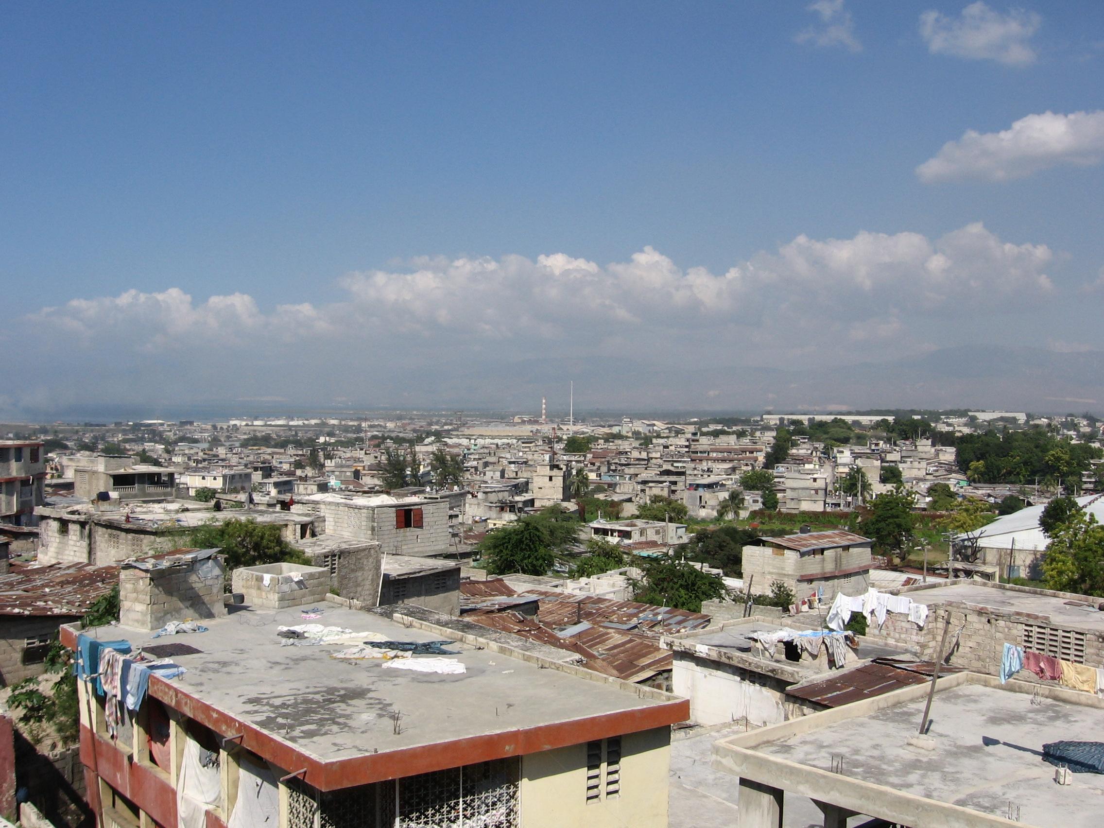 joey kelly photographs skyline in petionville haiti